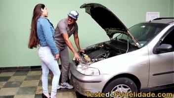 Bravo tube brasileira fazendo sexo com mecânico