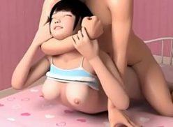 3D Hentai B comendo uma novinha a força