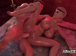 Mulher sendo fodida no hentai 3d