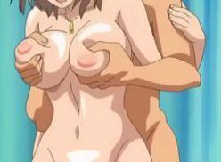 Uma peituda mulher goza demais no hentai gif
